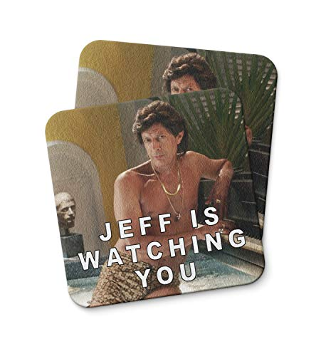 - Jeff Goldblum Watching You Coaster For Drinking Coffee Tea Beverages Kitchen Home Décor Gift Coaster PACK/SET OF 2