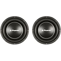 Q Power Deluxe 12 Shallow Mount 1200W Flat Car Subwoofer, 2 Pack | QPF12-FLAT