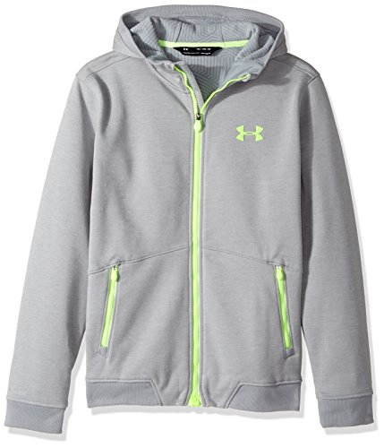Under Armour Outerwear Boys Storm Dobson Softshell, Steel (035)/Quirky Lime, Youth Large