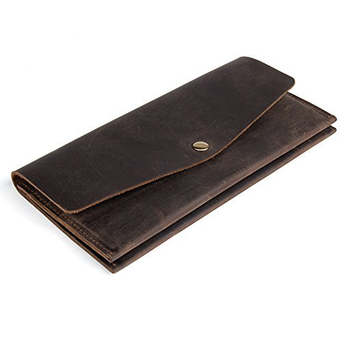 (BIG SALE! Retro Cowhide Wallet for Men Women Large Capacity Money Cards Wallets Flap Style - WESTBRONCO)