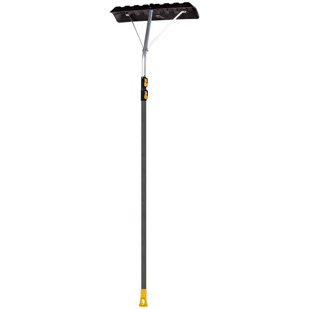 Non-Slip Handle Extends To17 Ft. Telescoping Roof Rake w/ 24 In. Poly Blade, Collapsible For Easy Storage, Use From The Ground, No Ladder Needed Clears Roof Of Dangerous Snow Build-Up by True Temper (Image #2)