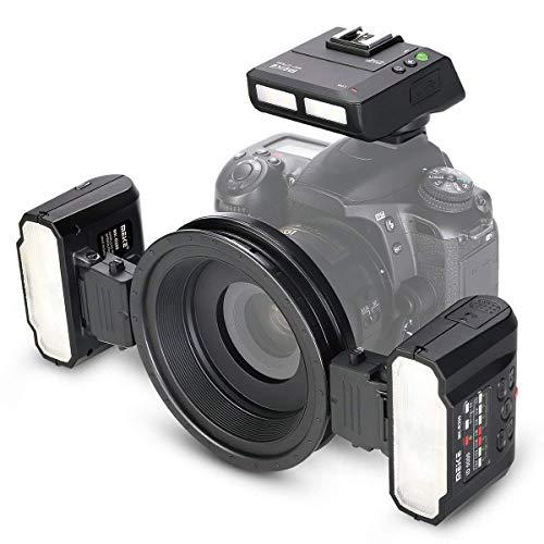 Meike MK-MT24S Macro Twin Dual Flash Ring Light 2.4G Wireless Transmission TTL Transceiver Trigger + Hot Shoe Holder fitfor Nikon D3100 D3400 D5000 D5100 D5300 D5500 D7000 D7100 D7200 Camera