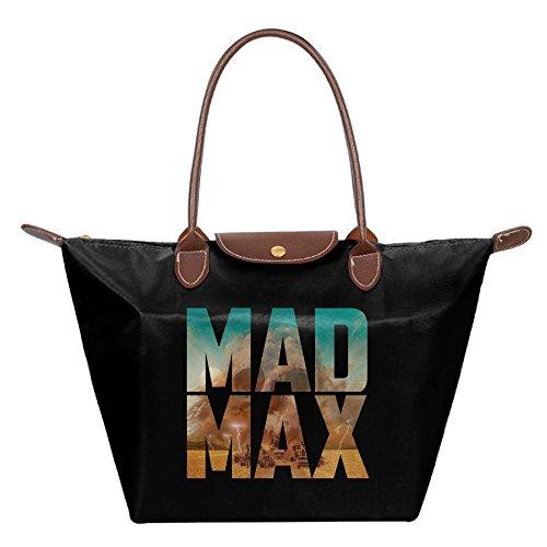 Furiosa Mad Max Costume (Women's Mad Max Fury Road Black Top Handle Handbag Shoulder Bags Tote Bag)