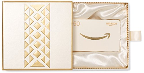 Amazon.com $50 Gift Card in a Premium Gift Box - Gold Card Gift