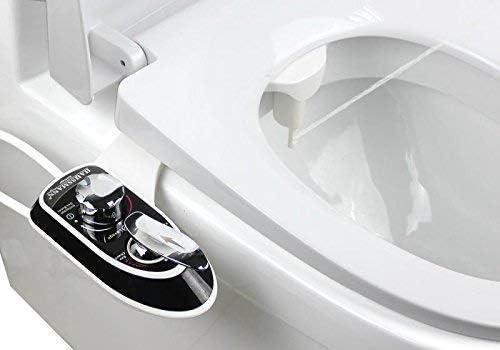 dispositif d/'eau chaude et froide qui se fixe sur le si/ège de toilette vaporisateur d/'eau fra/îche non /électrique pour bidet Hibbent Kit douchette Bidet pour WC