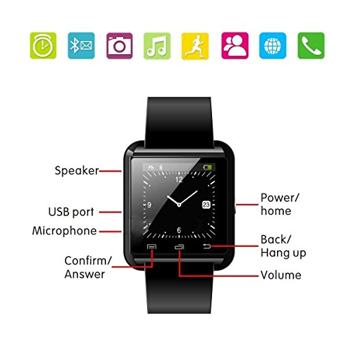 iloilo U8 Smartwatch UWatch Bluetooth Smart Watch Fit for ...