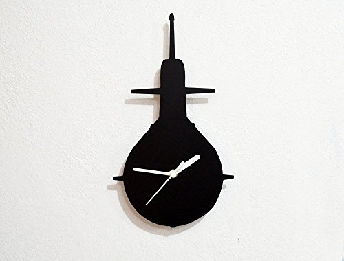 Submarine Silhouette - Wall Clock