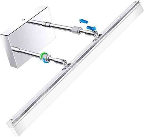 LEDMO Modern LED Bathroom Vanity Lights Retractable Cool White 6000K Stainless Steel Vanity Wall Light Adjustable Over…