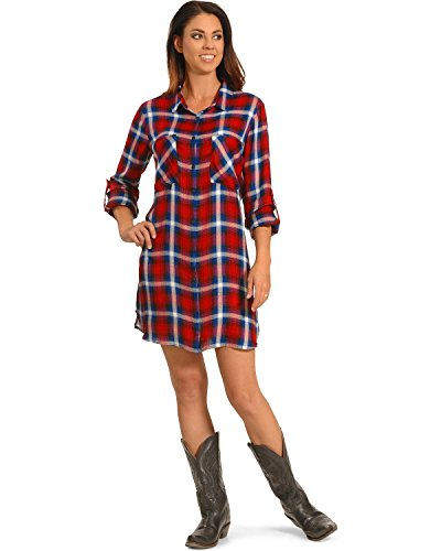 New Direction Sport Women's and Blue Plaid Shirt Dress Plus Sizes Plaid 2X (New Directions Clothing)