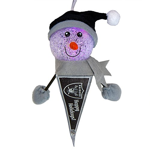 Oakland Raiders - Light-Up Snowman Pennant Ornament Nfl Football Snowman Ornament