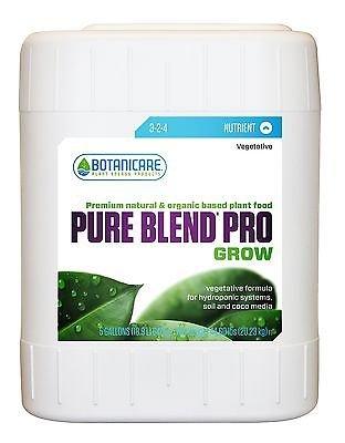 (Botanicare PURE BLEND PRO Grow Soil Nutrient 3-2-4 Formula, 5-Gallon)