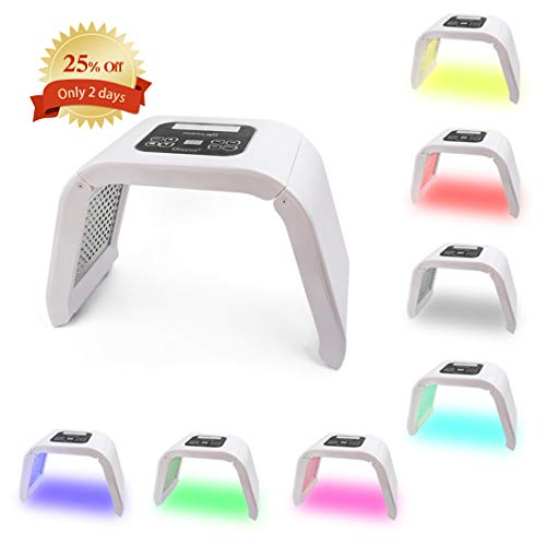 (Deciniee 7 Colors PDT LED Light Therapy Machine - Anti Aging Skin Care Tools for Face Neck Body - Salon SPA Rejuvenation Beauty Equipment - Acne Remover Photon Mask with Protective Eye Glasses)