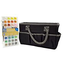 Artist's Loft Fundamentals Craft Tote Bag Storage (Bundle set Pack) and Watercolor Pan Set 36 Color
