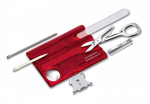 Victorinox Taschenwerkzeug Swisscard Nailcare, Rot Transparent, 0.7240.T