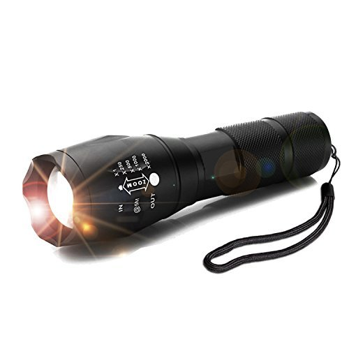 LED Tactical Flashlight Torch, YULAN Waterproof Portable Handheld Flashlights High Lumen for Camping Running Home Emergency -