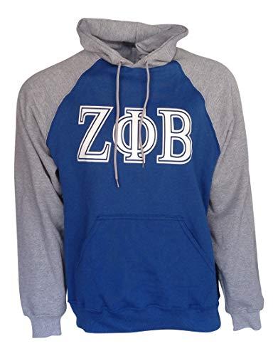 - Mega Greek Womens Zeta Phi Beta Color Block II Hooded Sweatshirt Royal Blue XXX-Large