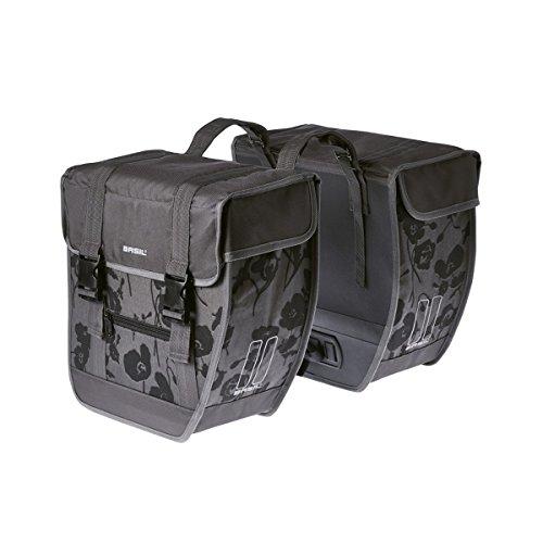 BASIL Elegance moonstone grey Tour Double bag XL Doppeltasche 40l Fahrradtasche Damentasche Bike Tasche