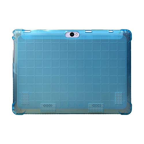 Transwon 10.1 Android Tablet Case TPU Cover Compatible with Dragon Touch K10, BeyondTab 10.1, TenYiDe 10.1, KUBI 10, Yuntab K107 K17, YELLYOUTH 10.1, LLLtrade 10.1, BATAI 10, ALLDOCUBE M5XS - Blue