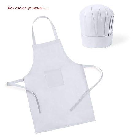 Lote de 30 Delantales + Gorro Infantil Pequeños Cocineros ...
