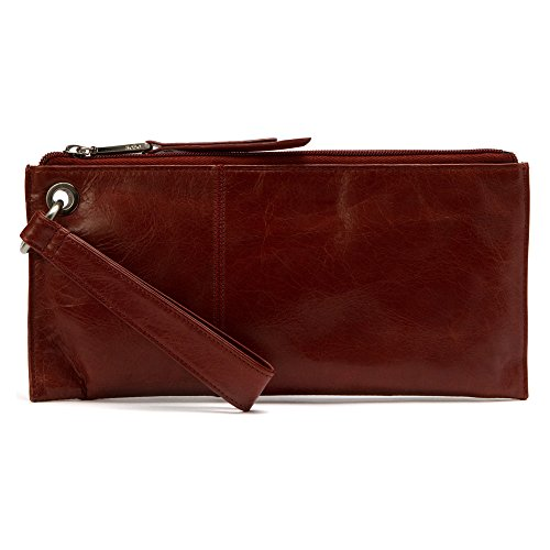 [Hobo Womens Leather Vintage Vida Clutch Wallet (Mahogany)] (Hobo Purse)