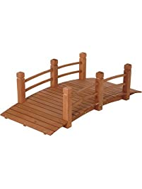 Wooden Garden Bridge, Model# KMG100858 WP
