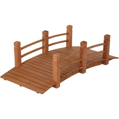 Red Cedar Garden Bridge - Wooden Garden Bridge, Model# KMG100858-WP