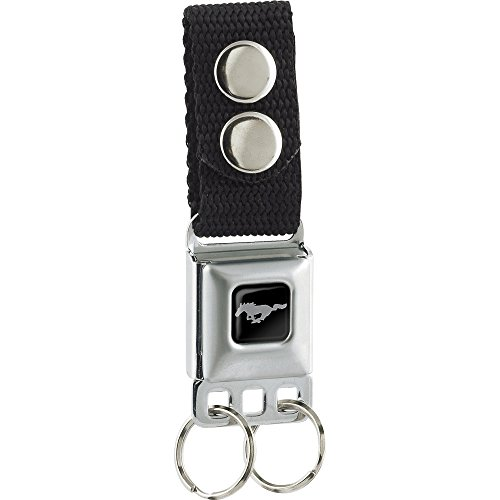 Ford Mustang Belt Seat Belt (Buckle-Down Unisex-Adult's Keychain-Mustang, Multicolor, One Size)