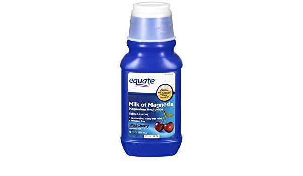Amazon.com: Equate - Milk of Magnesia, Wild Cherry, 12 fl oz by Equate: Health & Personal Care