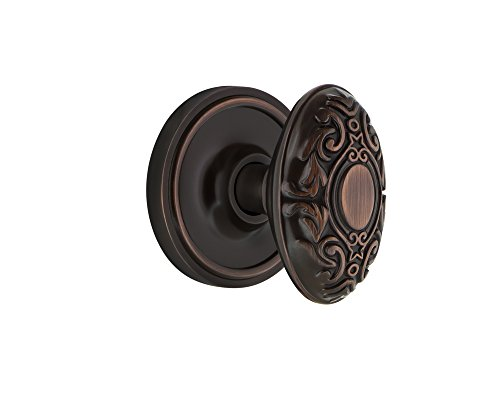 Nostalgic Warehouse Classic Rosette Privacy Victorian Door Knob in Timeless Bronze