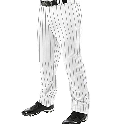 - Champro BPPINU Pinstripe Triple Crown 13 OZ PRO Adjustable Inseam Open Bottom Youth Boys Baseball Pants