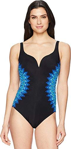 Miraclesuit Women's Knit Pick Temptress One Piece Swimsuit Black 12 from Miraclesuit
