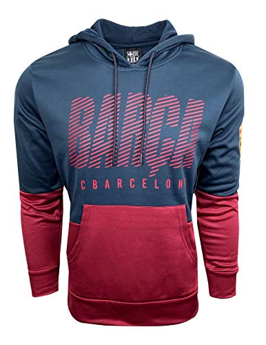 Barcelona Hoody - FC Barcelona Hoodie for Kids, Official Barcelona Pull Over Hoodie, Hooded Sweatshirt (Youth Medium 7-9 Years)