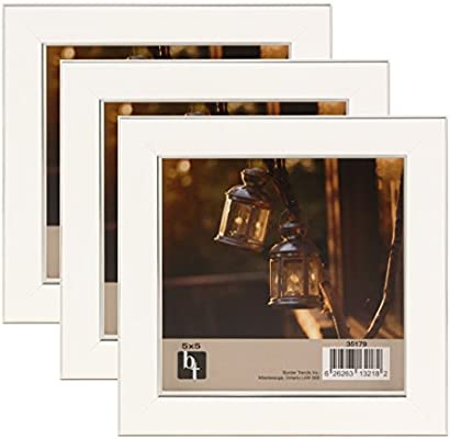 Two Tone Silver 8x8 Square Picture Photo Frame  Mount 5x5 Hang