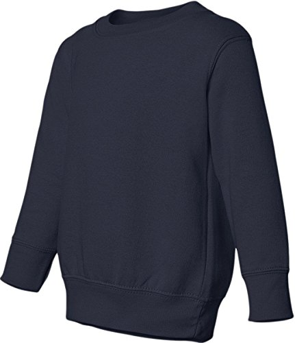 Rabbit Skins Toddler Sweatshirt (M-3317) Available in 13 Colors 3T Navy