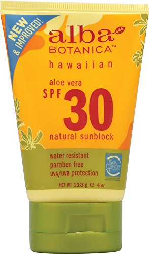 Alba Botanica Aloe Vera Hawaiian SPF 30 Sunscreen, 4 oz.