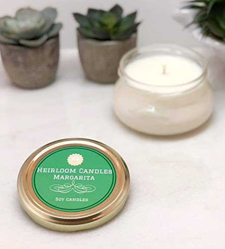 (Margarita Scented Soy Candle in Glass Tureen Handmade, 6oz)