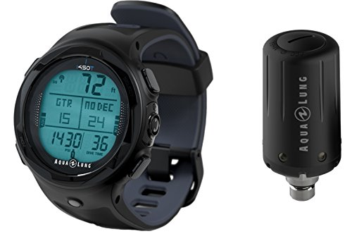 Aqua Lung i450t Hoseless Air Integrated Wrist Watch Dive Computer w/ Transmitter and USB, Black