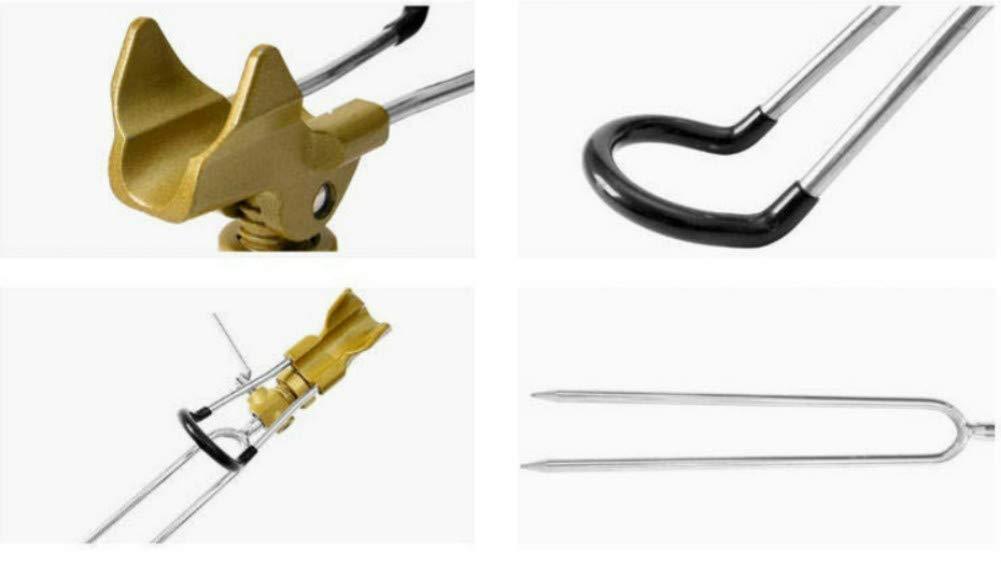 Ruixf 37 cm Verstellbarer Karpfen Angel Rutenhalter Angelrute Standhalterung Angelzubeh/ör