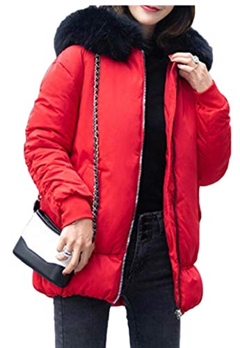 Short Hooded Red Coats Down EKU Puffer Jackets Winter Women's taqnwRf