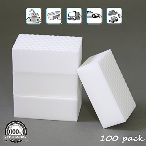 Magic Eraser Sponge Extra Power 2X Stronger Original Home Cleaner-Power Clean Edition Melamine High-Density Multi-Surface Foam Pads -100 Pack