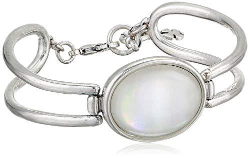 - Lucky Brand Women's Mop Hinge Bracelet, Silver, One Size