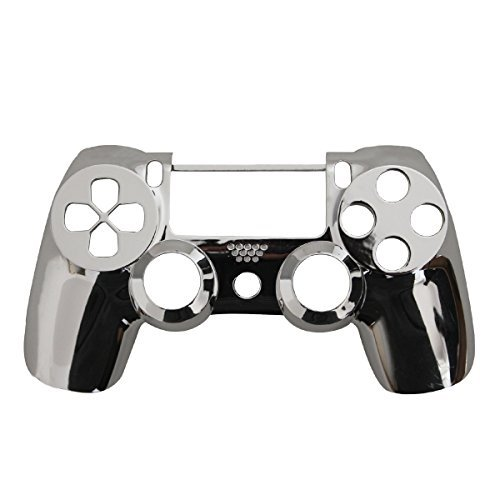 Cheap Controller Front Shell for PS4 Controller – Case for the PS4 Controller Dualshock 4 Front Shell Replacement – Custom Cool PS4 Controller Shell Case Cover PS4 Controller Shells – Chrome Silver