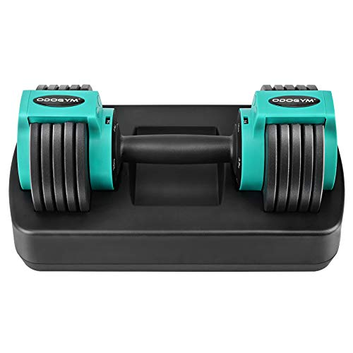 ODOGYM Adjustable Dumbbell 28 Pounds, Fitness Equipment for Men and Women with Fast Adjustable Weight Board, Used for…