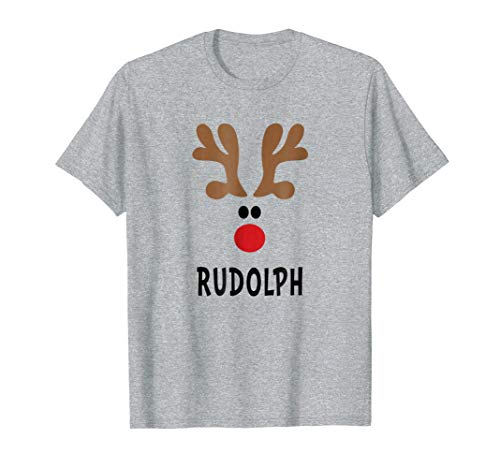 Reindeer Shirt Cute Group Christmas Outfit Costume Rudolph ()