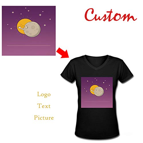 f3f6c8bc3b3a Personalized V Neck T Shirts for Women - Make Your OWN Shirt - Custom Your  Design