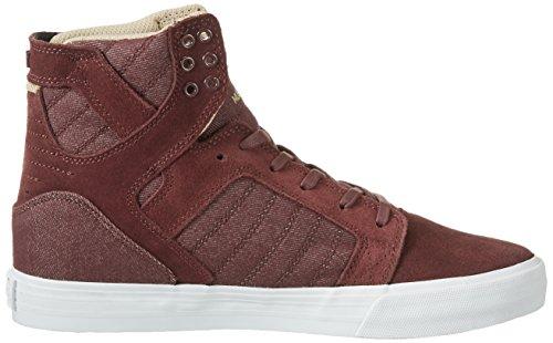 Supra Skytop Medium Sneaker Mahogni / Hvid YFYZTGM