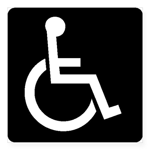 Cafepress Handicapped Sign Sticker Square Bumper