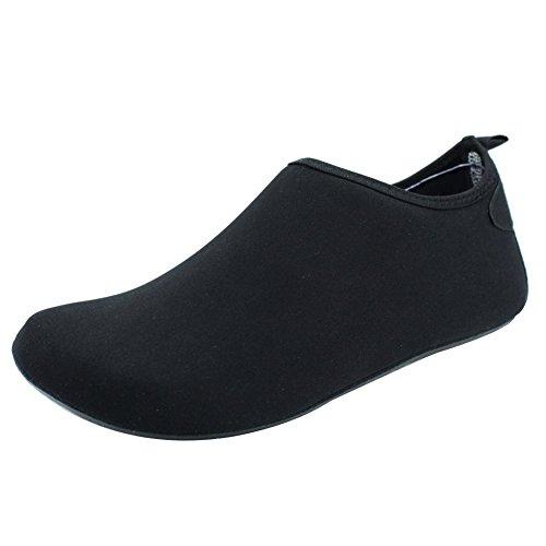 Senfi Water Schoenen Unisex Op Blote Voeten Outdoor Atletische Aqua Schoenen Voor Strand Zwembad Surf Oefening (mannen / Vrouwen) Zwart