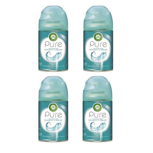 Wick Freshmatic Air Refill (Air Wick Pure Freshmatic 4 Refills Automatic Spray, Ocean Breeze, (4X6.17oz), Air Freshener)