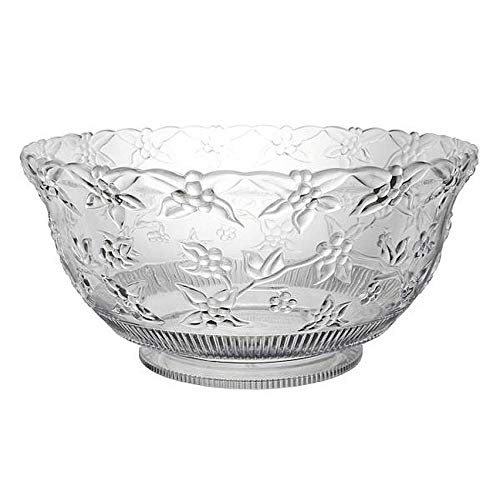 12 Quart Embossed Clear Punch Bowl]()